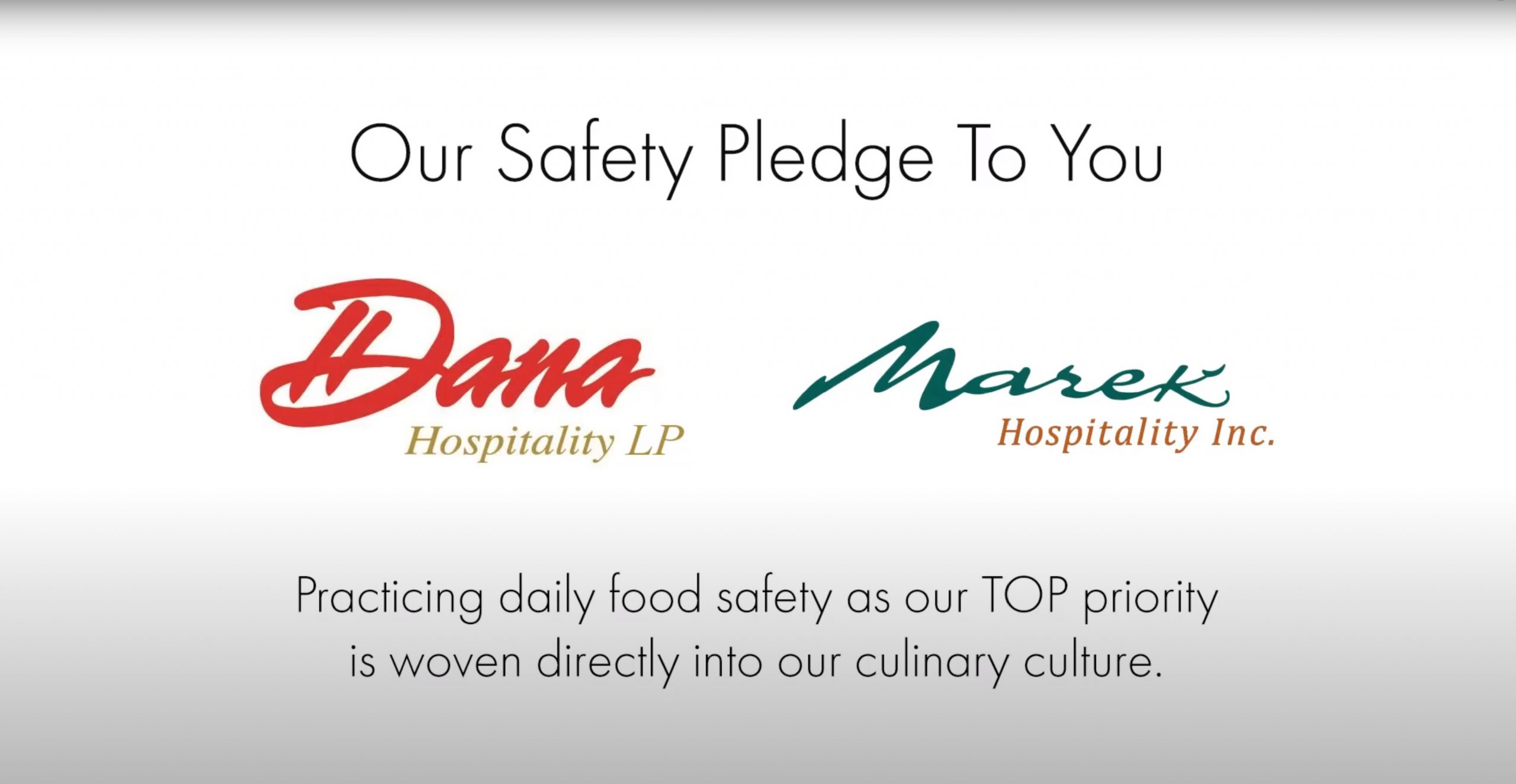 Dana Hospitality Our Pledge